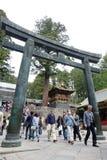 A lot of tourists visit Nikko Stock Photo