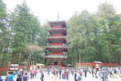 A lot of tourists visit Nikko Royalty Free Stock Photography