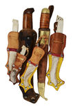 Lot of traditional Finnish knife puukko Royalty Free Stock Image