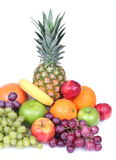 A lot of tropical fruits Stock Image