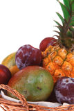 Lot of tropical fruits Royalty Free Stock Images
