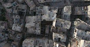 Lot truteń nad miastem zdjęcie wideo