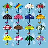 A lot of umbrellas Royalty Free Stock Images