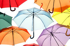 A lot of Umbrellas Stock Photography