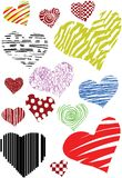Lot of  vector hearts Royalty Free Stock Photo