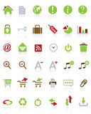 A lot of vector internet icons Royalty Free Stock Images