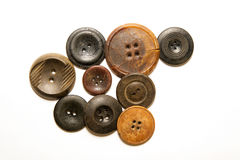 A lot of vintage buttons on  white background Royalty Free Stock Photography