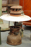 A lot of vintage dirty oil lamp Stock Photo