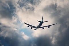 Lot w złej pogodzie Obraz Royalty Free