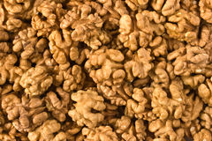 Lot of walnuts close up Royalty Free Stock Photo