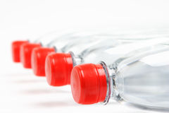 A Lot of Water in Bottles Stock Photography