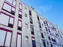 A lot of windows in the building facade royalty free stock image