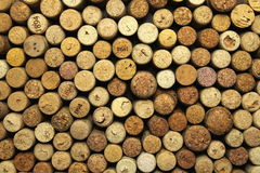 A lot of wine corks stock images