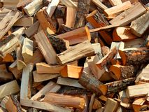 A lot of wood for home royalty free stock images