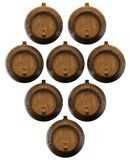 Lot of wooden barrels. For wine. 3D illustration Stock Photography