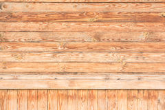 A lot of wooden boards are located horizontally and vertically Stock Photos