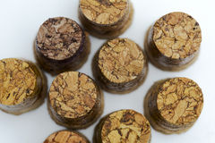 A lot of wooden plugs. Royalty Free Stock Photo