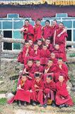 A lot of  Younger monks Stock Photo