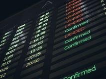 Lota Deskowy Lotniskowy Ewidencyjny tło Zdjęcia Stock