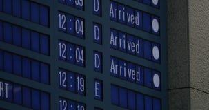 Lota rozkład z informacją samoloty przyjeżdżający zbiory wideo