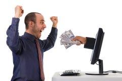 Lotaria do Internet Fotografia de Stock