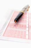 Lotaria e pena Imagem de Stock Royalty Free
