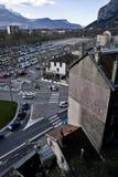 Lote & interseção de estacionamento Foto de Stock Royalty Free