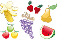 Lote da fruta ilustração royalty free