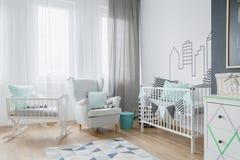 Lote da luz em um baby& x27; sala de s Foto de Stock Royalty Free
