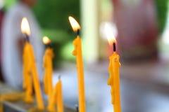 Lote da vela iluminado Imagem de Stock