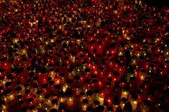 Lote das velas Fotografia de Stock Royalty Free