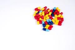 Lote de comprimidos diferentes da medicina Imagem de Stock Royalty Free