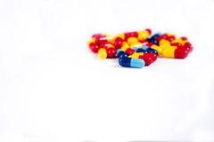 Lote de comprimidos diferentes da medicina Imagem de Stock