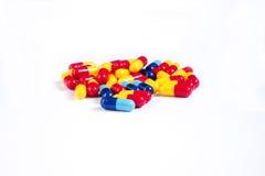 Lote de comprimidos diferentes da medicina Fotografia de Stock