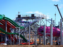 Lote de construção do parque da água Imagens de Stock