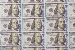 Lote de 100 dólares Fotografia de Stock Royalty Free