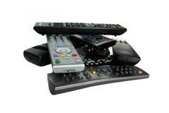 Lote de dispositivos de controle remoto Imagens de Stock Royalty Free