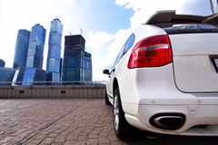 Lote de estacionamento Foto de Stock Royalty Free