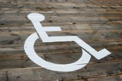 Lote de estacionamento da cadeira de rodas Fotos de Stock Royalty Free