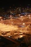 Lote de estacionamento da noite Imagens de Stock