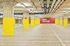 Lote de estacionamento subterrâneo Foto de Stock Royalty Free