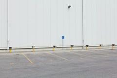 Lote de estacionamento vazio Imagens de Stock
