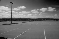 Lote de estacionamento vazio Fotos de Stock Royalty Free