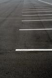 Lote de estacionamento vazio Fotografia de Stock