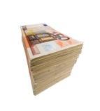 Lote de euro- notas de banco Imagens de Stock Royalty Free