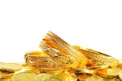 Lote de moedas de ouro Imagem de Stock