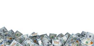 Lote de 100 notas de dólar Fotos de Stock