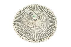Lote do dinheiro dos dólares americanos Imagem de Stock