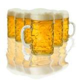Lote do vidro de cerveja Imagem de Stock Royalty Free