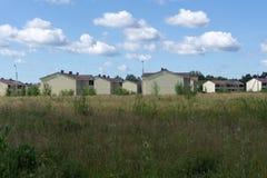 Lote suburbano novo do ar da rua da vizinhança da casa, Fotos de Stock Royalty Free